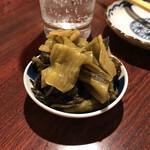 おうちあそび - 料理写真:*広島菜漬ダブル(¥500) (※2人前を一皿に盛ってもらったもの)