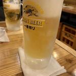 海鮮屋台おくまん - キンキンに冷えた生ビール