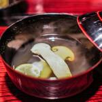 鉄板焼き いわ倉 - 松茸のお椀