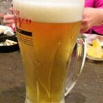 居酒屋 かっぱ天国 - 生ビール