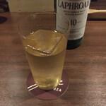 バー ゴヤ - ラフロイグのソーダ割り