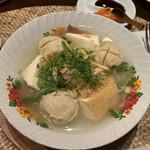 アユンテラス - バッソ(鶏団子と厚揚げのスープ)