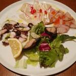 Irupojitano - 三津浜・宇和島より本日の鮮魚のカルパッチョ(4種盛合せ)