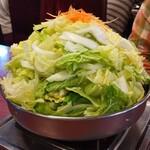 127624890 - びわこ食堂名物    特製味噌鍋                       ホルモン鍋 × 2人前