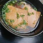 美芳野庵 - キツネうどん。お揚げさんの味は未確認。