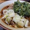 そば処 亀島 - 料理写真:春菊天そば アップ