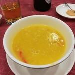 chuugokuryourinanen - ずわい蟹入りかぼちゃのフカヒレスープ