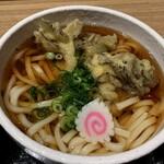 太田強戸PA フードコート - 相方は舞茸天うどん 660円
