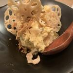 Taishuuwagyuusakabakonroyashimofuriwagyuunabetokoubegyuuhorumonteppanyaki - ポテトサラダ