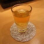 箔座日本橋 - 冷たい加賀棒茶