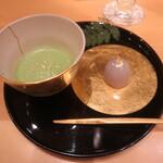 箔座日本橋 - 抹茶と花こおり