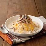 さかい珈琲 - Wチーズ&W茸の濃厚オムカルボ