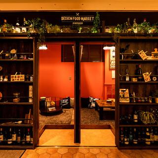 壁の中に隠された【隠し扉の個室】個室・完全個室も完備!
