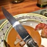 蒼 - テーブルナイフはFORGE DE LAGUIOLE 研ぎは月山義高刃物店へ依頼されているそうです