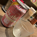 自家製麺ほうきぼし - ビール350ml  350円