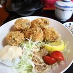 魚屋の寿司 東信 - カキフライ定食です☆ 2020-0318訪問