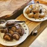 NAAK CAFE - ショコラロールケーキ、ほうじ茶ロールケーキ