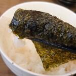 横浜家系ラーメン 力道家 - 料理写真:海苔巻きラ〜イス