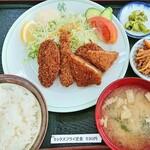 地下食堂 天輪 - 料理写真:ミックスフライ定食 530円 2019/09
