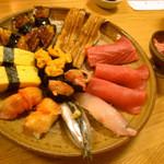 12767133 - 好きなお寿司を各自色々とオーダー。