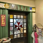 レストラン マルタ - お店はスナックを思わせる古めかしさ