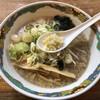 特麺コツ一丁ラーメン - 料理写真:ラーメン 麺半分 ニンニクあり味濃い目で
