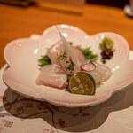 とゝ喝 - 白身お造り(鯛・カレイ)