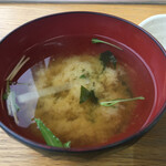 ととんちゅう - 水菜と大根のみそ汁
