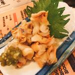 豪快 立ち寿司 - つぶ貝あて