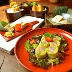 神楽坂 おいしんぼ - 湯葉生春巻きを始め豆腐、生麩の名物料理を存分に