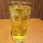 シビレ ヌードルズ 蝋燭屋 - 緑茶ハイ