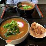 田なべ - 料理写真:カレーうどんセット 1100円