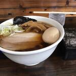 太麺屋 - 小盛り太麺あぶらっぽく650円+半熟味玉100円+海苔100円