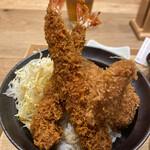 新潟カツ丼 タレカツ - 相盛り丼