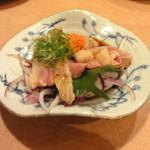 味峯 - 朝引き地鶏たたきポン酢
