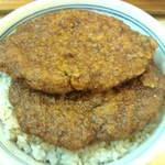茶子溜り - ソースカツ丼セットの荒挽メンチカツ丼