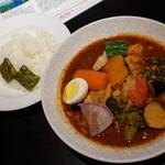 127722287 - とり野菜のスープカレー(平日1380円)です。