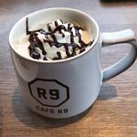 CAFE R9 - カフェモカ単品380円+税。ランチタイムは160円+税。