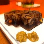 ぬる燗 - 鮫の煮凝り