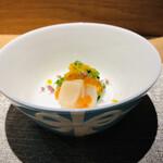 Kitashinchisushitsuu - 帆立いくら菜の花にカラスミ掛け