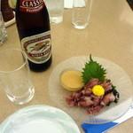 エアポート - キリンラガー700円+ほたるいか酢味噌800円