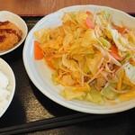 名谷パーキングエリア上り線 - 料理写真:野菜炒め定食♪