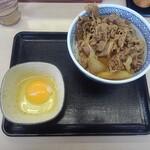 吉野家 - 料理写真:牛丼(並)+生卵
