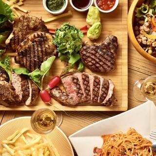 「肉盛りカーニバル」スパークリング含む3時間飲放題4500円