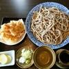 手打蕎麦 きふね - 料理写真:げそ天もりそば (田舎そば)