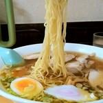 おざわ食堂 - おざわ食堂@加美町 鶏中華そば・大盛 麺リフト