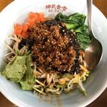 神武食堂 - 黒ごま汁なし坦々麺 800円
