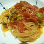 127759219 - フキノトウのスパゲッティー カラブリア風トマトソース