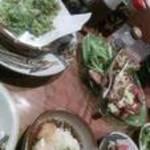 12776357 - あおさのてんぷら・サラダ・ジーマミー豆腐の揚げ出し