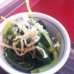 日光くじら食堂 - 菜っ葉のおひたし